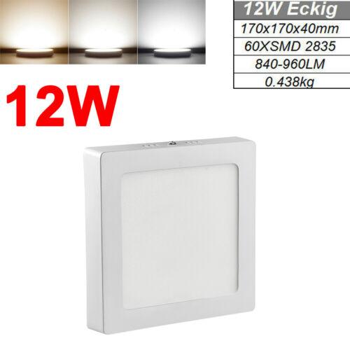 Rund LED Panel Deckenleuchte 6W 12W 18W 24W Aufputzlampe Leuchte Lampe Eckig