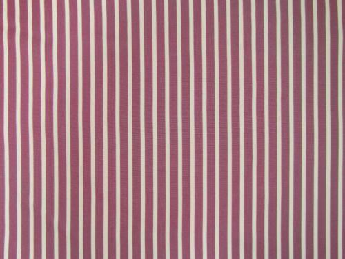 Clarke /& Clarke Stowe Raspberry Pink Stripe Fabric Material Curtains Furnishing