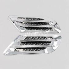 Universal Side Wing Car Air Flow Intake Vent Trim Fender Scoop Bonnet Chrome