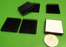 Heat Sink Self Adhesive CPU Games IC Heatsinks Video 6mm 30mm x 30mm SET x1 pc