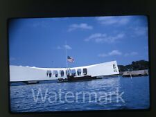 1960s 35mm Kodachrome Photo slide Hawaii Vacation #10  1964 USS Arizona Memorial