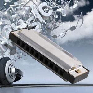 20-Tone-Stainless-Steel-Diatonic-Country-10-Holes-Harmonica-Key-Of-C-Blues