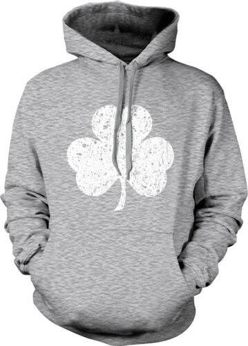 St Patrick/'s Day St Pattys Hoodie Pullover Distressed Three Leaf Clover