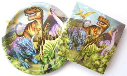 Plates and Napkins Dinosaur Birthday Party Supply Kit