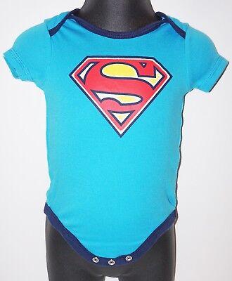 SUPERMAN NEW BORN 0-3 M DC COMICS SUPERMAN ONE PIECE BABY SHOWER GIFT
