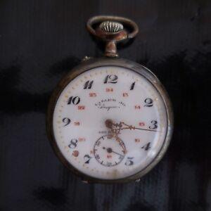 Montre-a-gousset-PASQUIER-Orleans-LA-GERRA-argent-or-porcelaine-France-N4027
