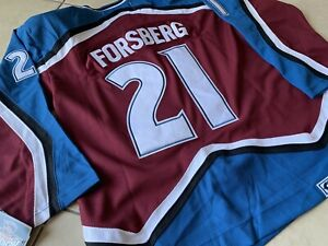 huge selection of f5b90 75890 Details about NHL Colorado Avalanche Peter Forsberg Hockey Jersey