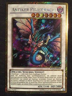 YUGIOH! Near Mint! Gold Secret Rare Antiker Pixiedrache PGLD-DE006