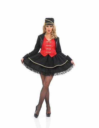 Hat Womens Sports Adults Fancy Dress Outfit 8-30 Drum Majorette Ladies Costume