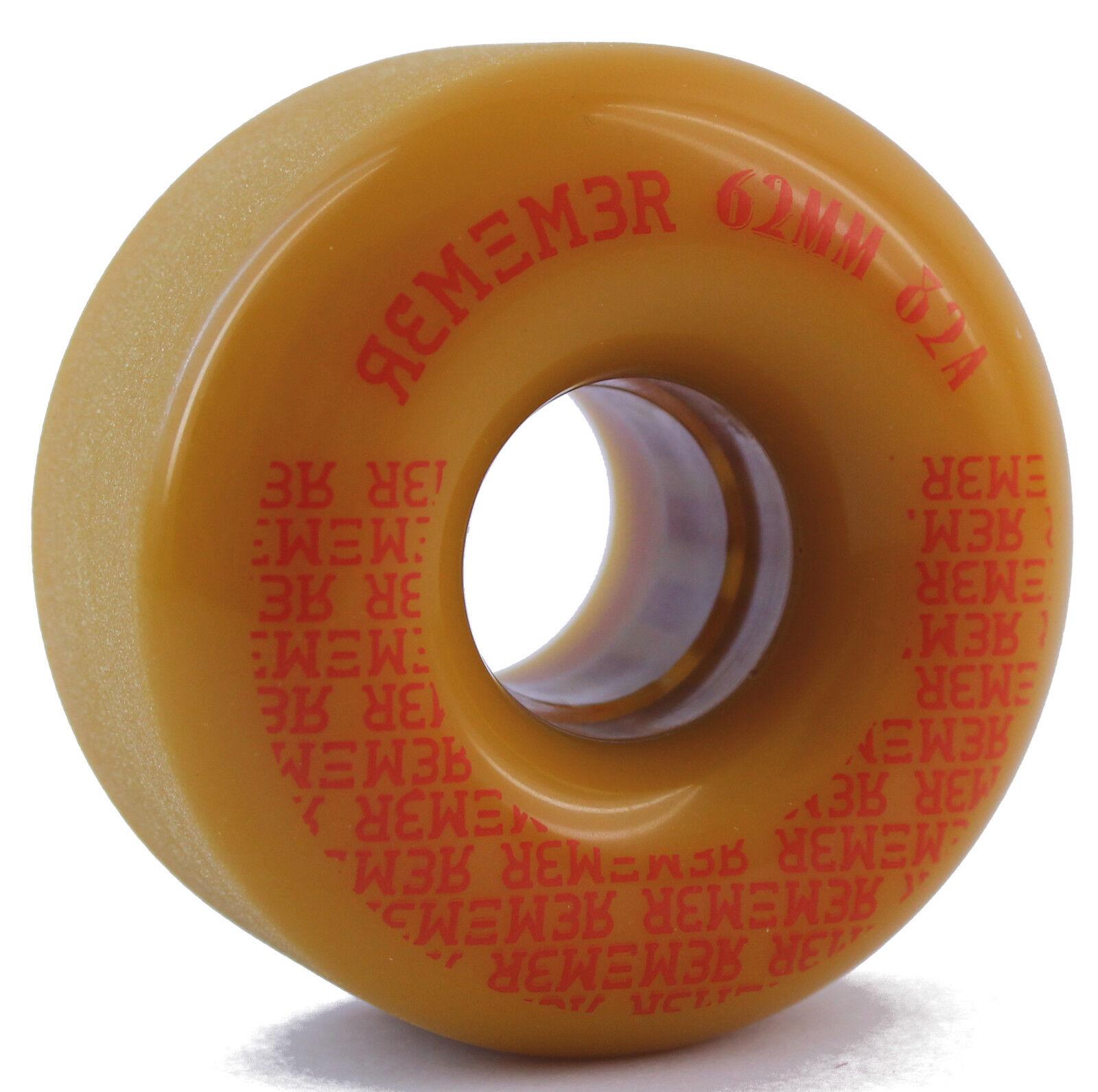 Remember Peewee Slide Wheels 62mm 82a Mustard Longboard Cruiser Rolls