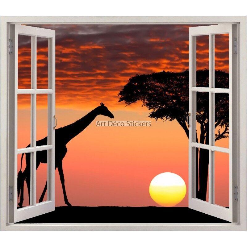 Aufkleber Fenster Schein Auge Giraffe Ref 5455 5455