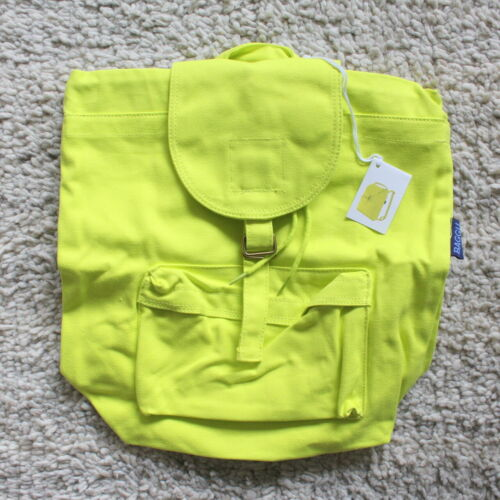Baggu Backpack Pink Yellow Recycled Cotton Canvas Knapsack Daypack Backpack Neon