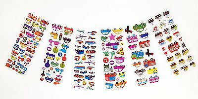 12 sheets/lot Cartoon PVC Puffy Stickers Kids Birthday Party Gifts hot Wholesale