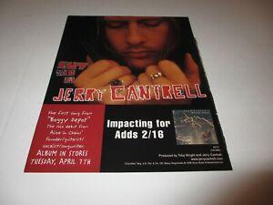 JERRY-CANTRELL-of-Alice-In-Chains-original-magazine-ad-1998-rare
