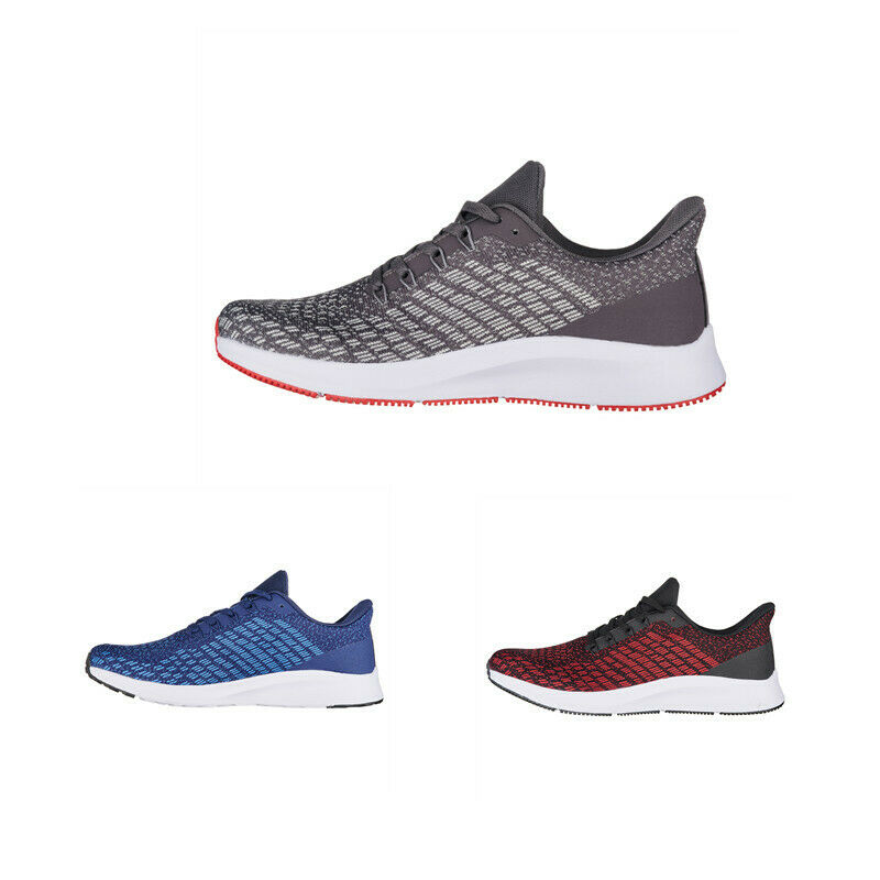 Mens Mesh Athletic Lace Up Flat Heel Jogging Sport Casual Sneakers shoes Fashion