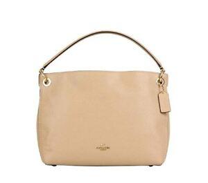 7089154aa4 COACH Women s Polished Pebble Leather Clarkson Hobo Li Beechwood One ...