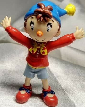 ORIGINAL NODDY - SOLID RUBBER 10CM. NOSTALGIC AND IN LOVELY CONDITION