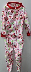 Elf On The Shelf Toddler Boys Girls Blanket Sleeper Footie Kids Pajamas 3T