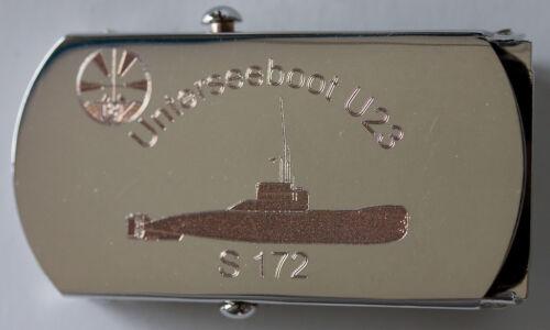 Bundesmarine:Hosengürtel mit Schloss,vernickelt:Unterseeboot U23 S 172