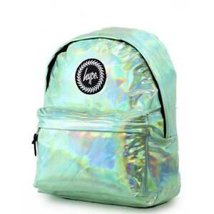 free delivery popular stores size 40 Details about HYPE Holographic Backpack Mint Schoolbag BTS18130 Rucksack