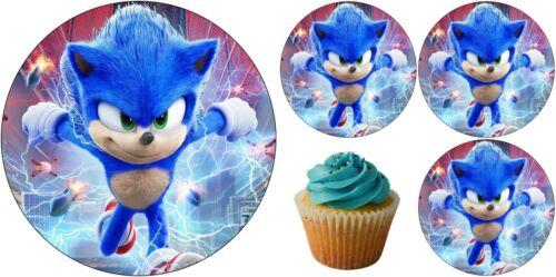 Sonic Igel Eßbar Tortenaufleger Party Deko Geburtstag Cupcake Film Muffin Neu