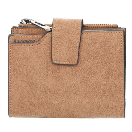 Women Ladies Wallet RFID Blocking Leather Wristlet Clutch Card Coin Purse Bifold