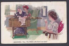 Ca 1906 FREE BRAND SEWING MACHINES AD CARD, UNMAILED, SCARCE