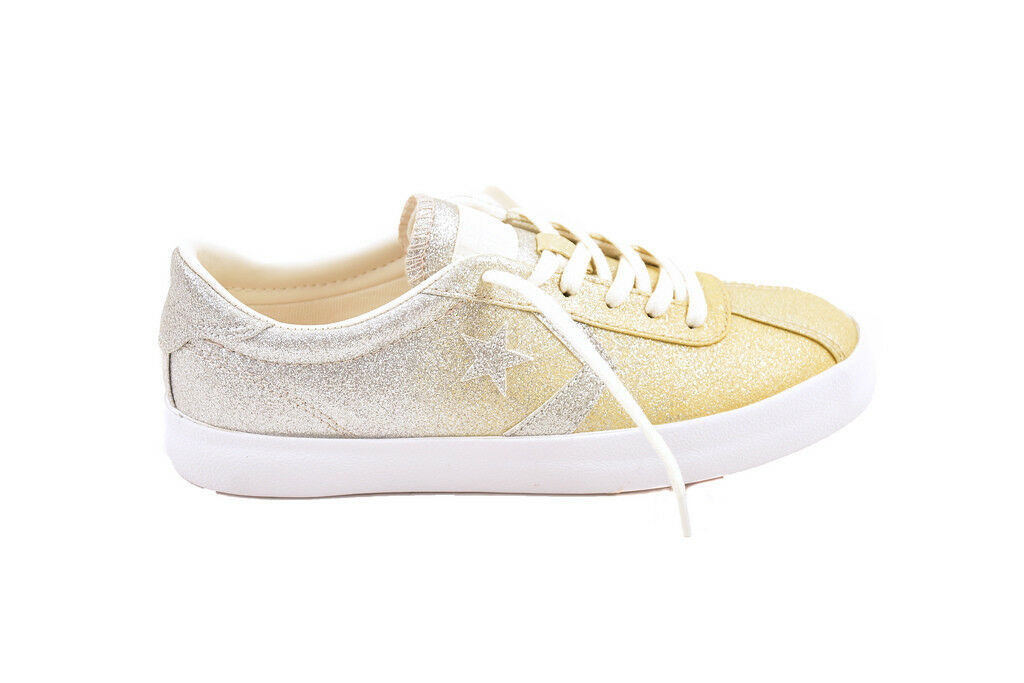 Converse Unisex Breakpoint OX 159591 Sneakers Gold/Silver UK 3   BCF87