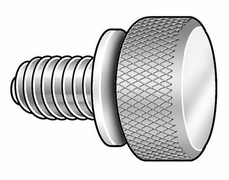 Knurled-Head Thumb Screw Low-Profile Thread Size #10-24 FastenerParts 18-8 Stainless Steel