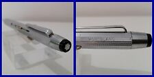 Montblanc penna 4 colori *n. 50* silver metal / 4 four colour ballpoint flat top