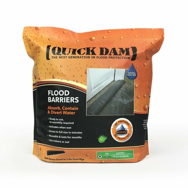 1-Pack Quick Dam Water Activated  Flood Barrier 5 feet