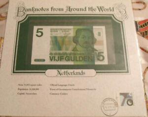 World-Banknotes-Netherlands-5-gulden-1973-P-95-UNC-4551