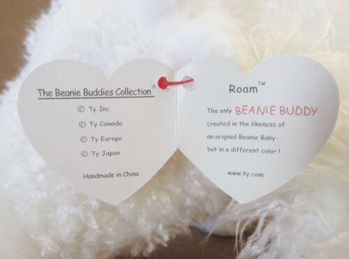 """TY Beanie Buddy  /""""Roam/"""" the White Buffalo PRISTINE Brand New w//Mint Tags"""