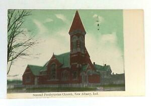New-Albany-Indiana-Second-Presbyterian-Church-Vintage-Postcard