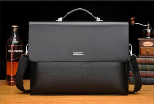 New Mens Classic Business Leather Briefcase Bag Handbag Laptop Shoulder Bags