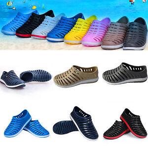 homme-ete-glissiere-Chaussures-a-enfiler-CAOUTCHOUC-Tongues-EAU-Sandale-creux