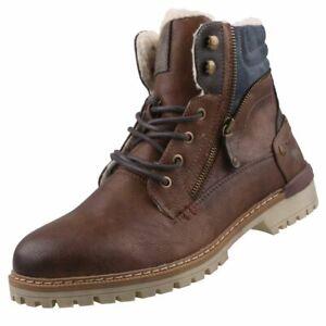Neu Stiefel Zu Herren Schuhe Mustang Winterstiefel Details Gefüttert Herrenschuhe Boots vO80mnNw