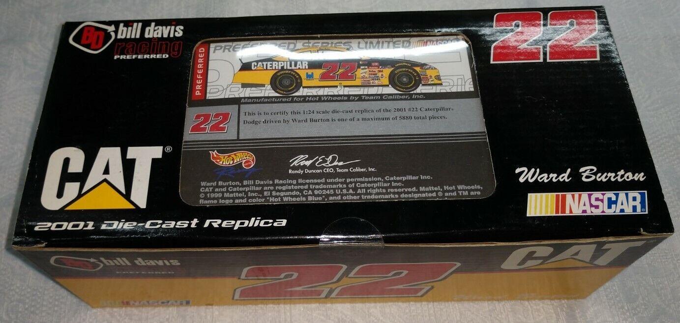 Ward Burton 2001 NASCAR 1 24 Diecast Caterpillar Hot Wheels Preferrosso P222116CA
