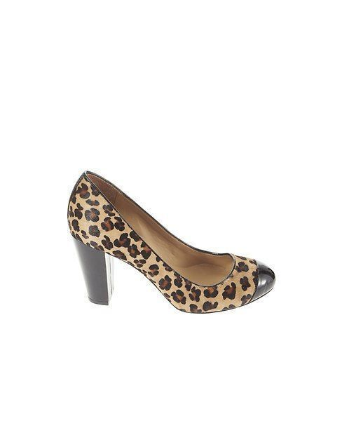 New with Box Ann Taylor Addison Leopard Print Haircalf Block Heels 5.5