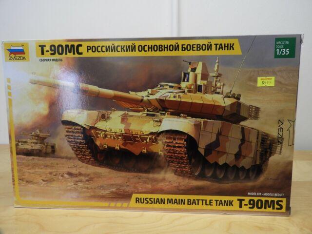 ZVEZDA, RUSSIAN MAIN BATTLE T-90MS , 1:35 Scale, Plastic Tank Kit, Item 3675