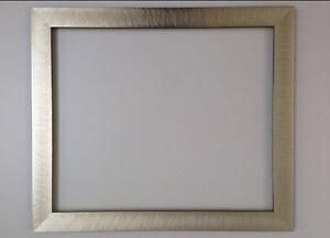 Moderno-Cepillado-Plata-marco-Diferentes-Tamanos-Disponibles