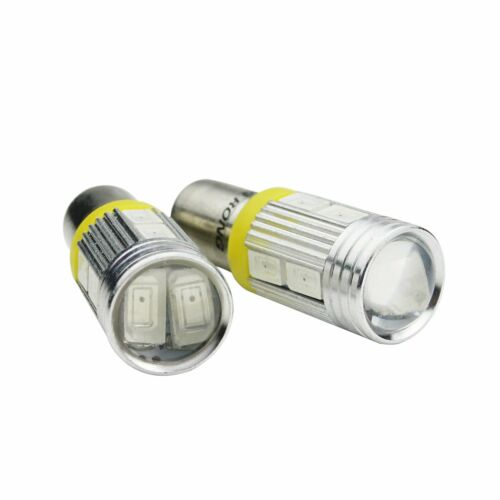 2x HY21W BAW9s 64137L​ 10SMD LED Bulb Indicator Turn Signal Reverse Light Amber