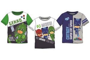 PJ-Masks-Jungen-T-Shirt-Kinder-Catboy-Gekko-Helden-Gr-98-104-110-116-128-Neu