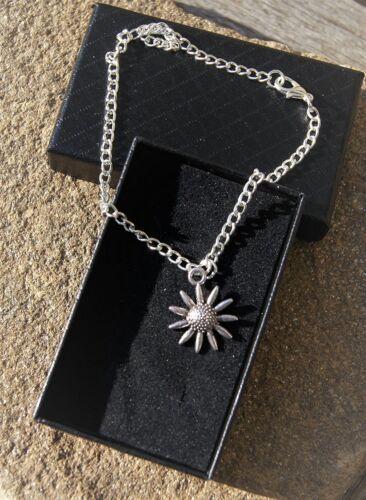 Daisy Anklet Ankle Bracelet Handmade Silver Plated Ladies//Girls//Boys