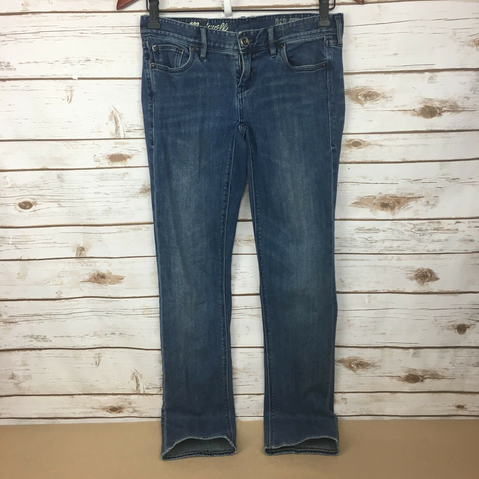 Madewell Womens Rail Straight Low Rise Jeans Size 25