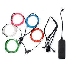 H613 5x 1m EL Wire EL Kabel Neon Beleuchtung leuchtschnur fuer Weihnachtsfeiern
