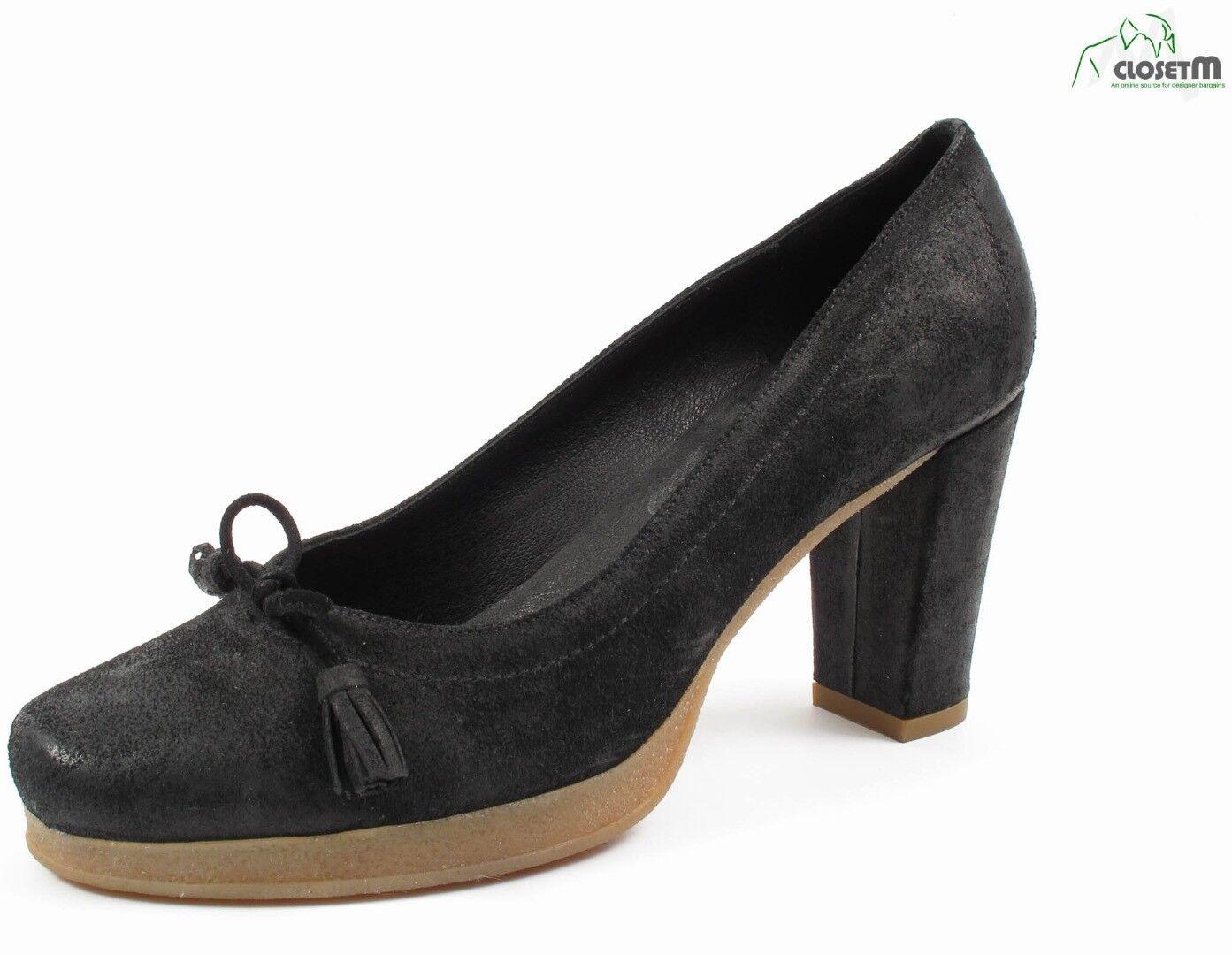80% di sconto Nara scarpe nero Suede Rubber Sole Pumps Heels scarpe Sz. Sz. Sz. EU 40 US 9  seleziona tra le nuove marche come