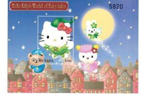 Fish MNH Stamp Souvenir Sheet Hello Kitty Guyana 2001