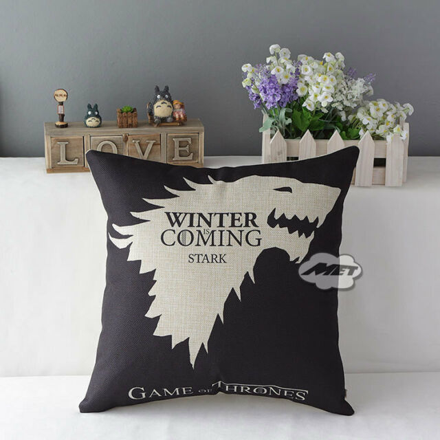 "Game of Thrones Sigils 17.7"" House Home Decorative Pillow Cushion Covers Case"