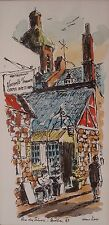 Quebec Canadian Art Painting Watercolor Pen Ink 1969 Signed 03081